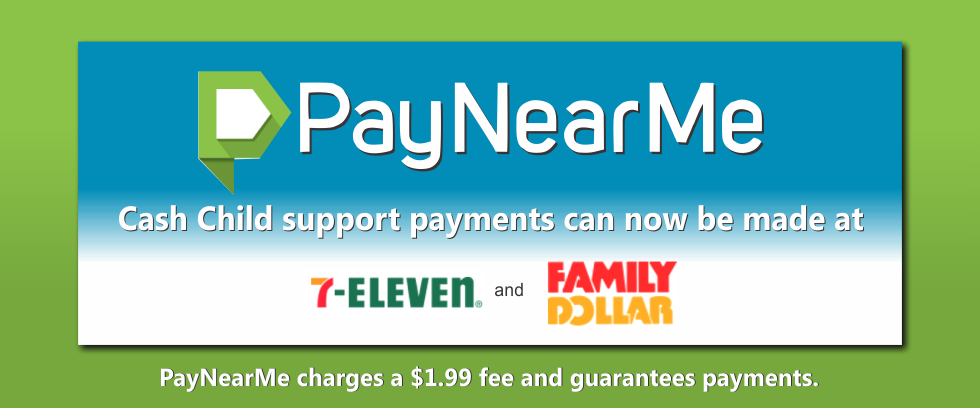 Cash Child Support payments with PayNearMe